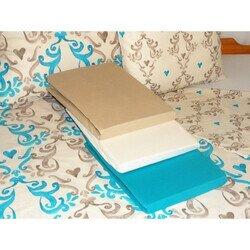 Happy Hearts kék 3 részes pamut ágyneműhuzat