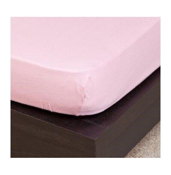 Pamut Jersey világos rózsaszínű gumis lepedő 100x200 cm