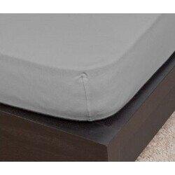 Pamut Jersey grafit szürke gumis lepedő 100x200 cm