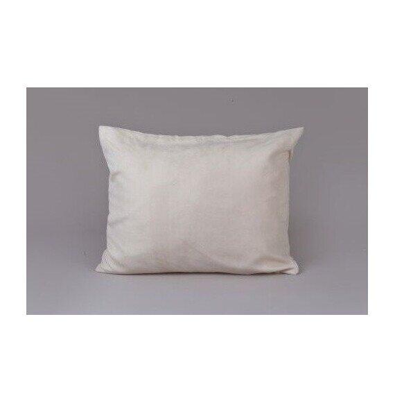 Bőrhatású díszpárna krém 40x50 cm