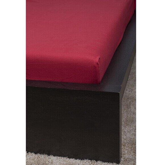 Pamut Jersey cherry gumis lepedő 100x200 cm