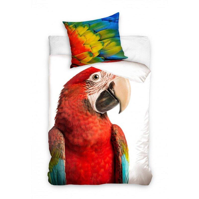 Papagájos 2 részes pamut-vászon ágyneműhuzat aa8141a017