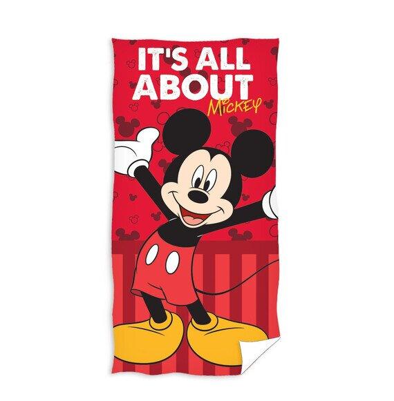 Mickey egér piros pamut törölköző 70x140 cm