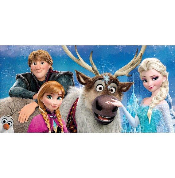 Jégvarázs family Disney pamut törölköző 70x140 cm