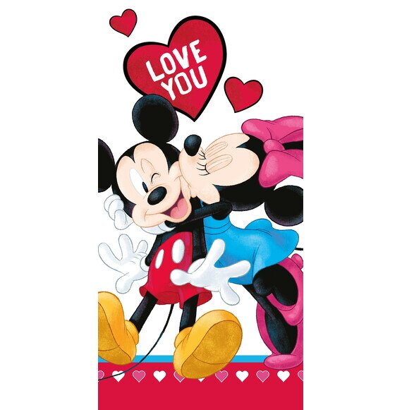 Minnie és Mickey love you Disney pamut törölköző 70x140 cm