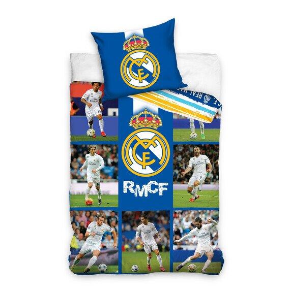 Real Madrid csapat 2 részes pamut-vászon ágyneműhuzat