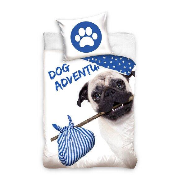 Mopsz dog adventura 2 részes pamut-vászon ágyneműhuzat