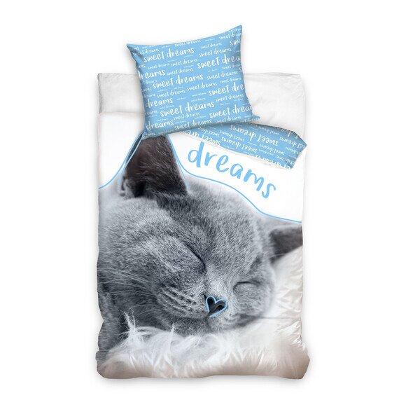 Macskás 2 részes pamut-vászon ágyneműhuzat