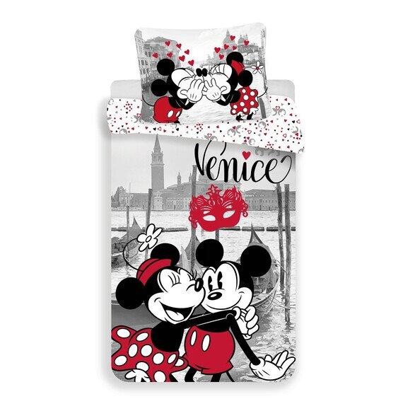 Mickey és Minnie egér Velencében 2 részes pamut-vászon gyerek ágynemű