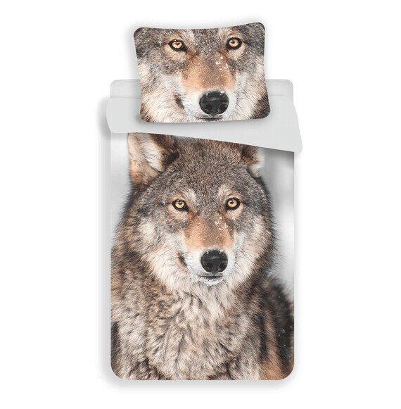 Farkas 2 részes pamut-vászon gyerek ágynemű