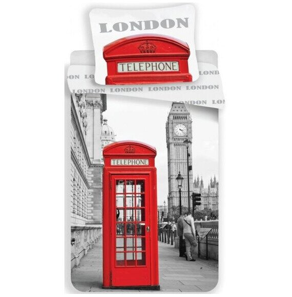London 2 reszes pamut-vaszon agynemuhuzat