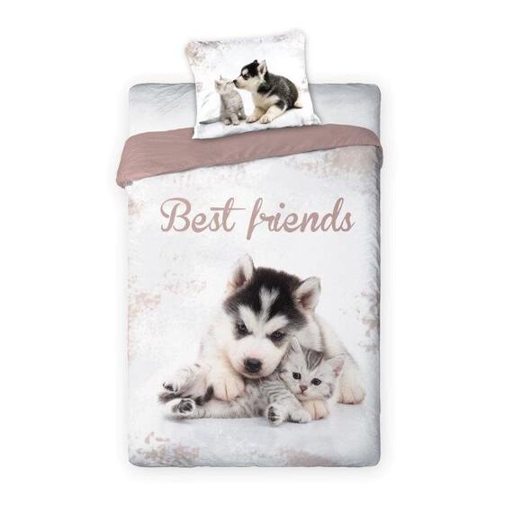 Legjobb barátok 2 részes pamut-vászon ágyneműhuzat