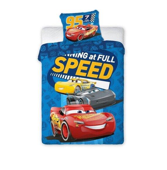 Verdák full speed 2 reszes Disney pamut-vászon 100x135 cm ovis ágyneműhuzat
