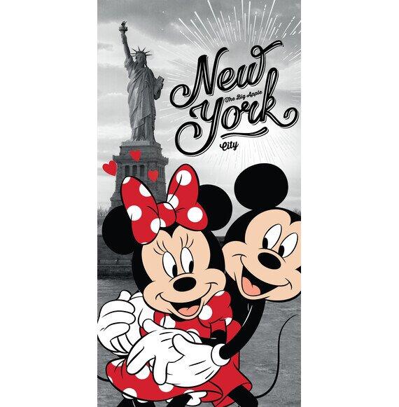 Disney Minnie és Mickey egér New Yorkban pamut törölköző 70x140 cm