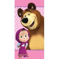 Mása és a medve pamut törölközö 70x140 cm