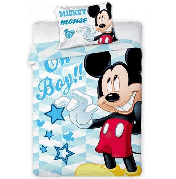 Disney Mickey egér ovis pamut-vászon ágyneműhuzat 100x135 cm