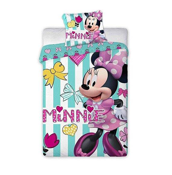 Disney Minnie egér happy ovis pamut-vászon ágyneműhuzat 100x135 cm