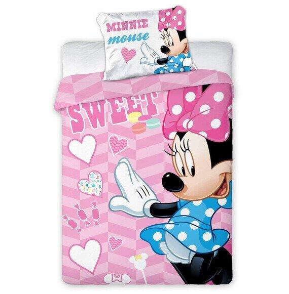 Disney Minnie egér ovis pamut-vászon ágyneműhuzat 100x135 cm