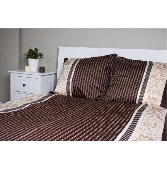 Mocca pamut-szatén ágyneműhuzat