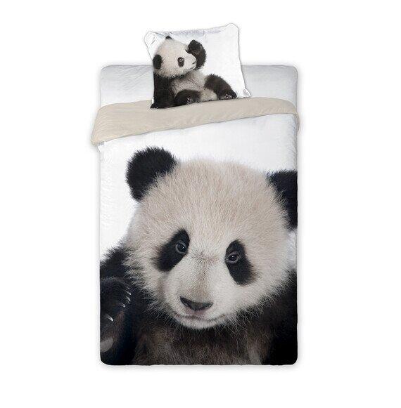 Panda 2 reszes pamut-vászon ágyneműhuzat