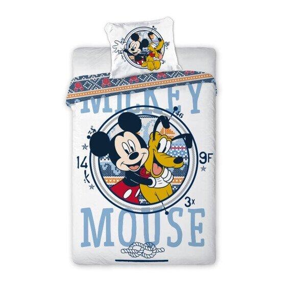 Mickey és Pluto Disney pamut-vászon 100x135 cm ovis ágyneműhuzat