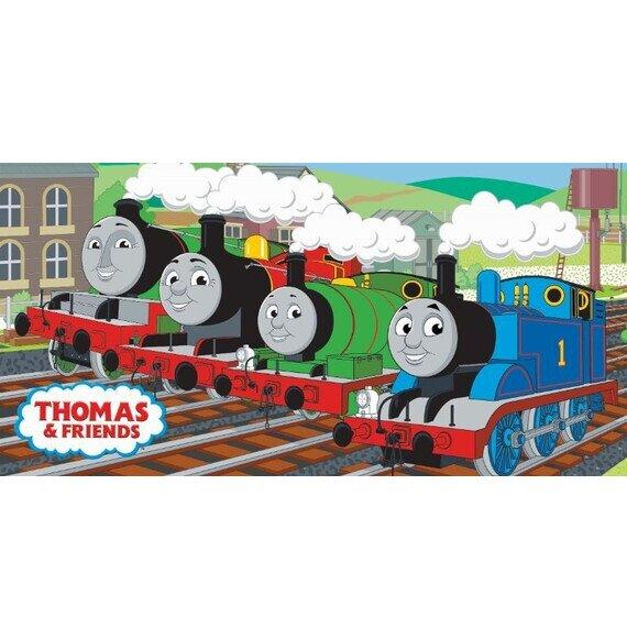 Thomas a gőzmozdony pamut törölköző 70x140 cm