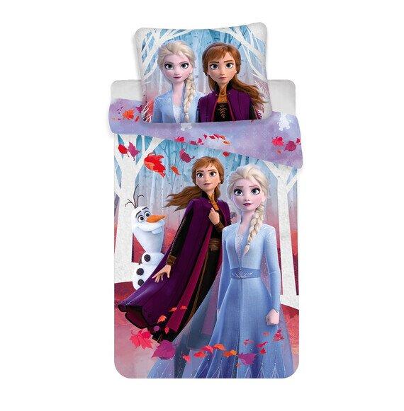 Jégvarázs leaves 2 részes Disney pamut-vászon gyerek ágynemű 50x70 cm párnahuzattal