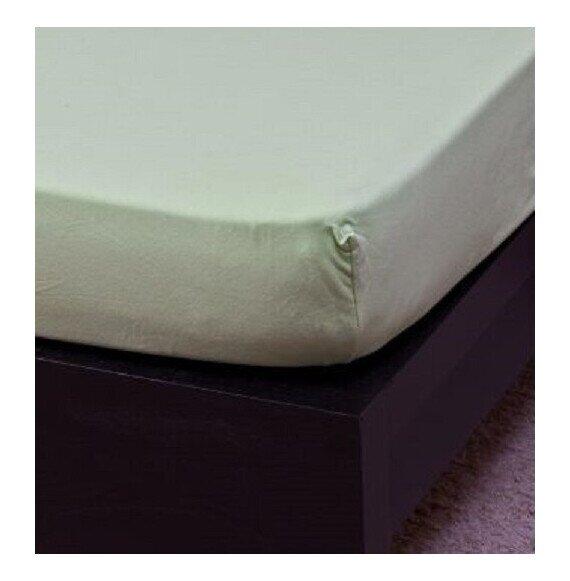 Gyermek Jersey világoszöld gumis lepedő 70x140 cm