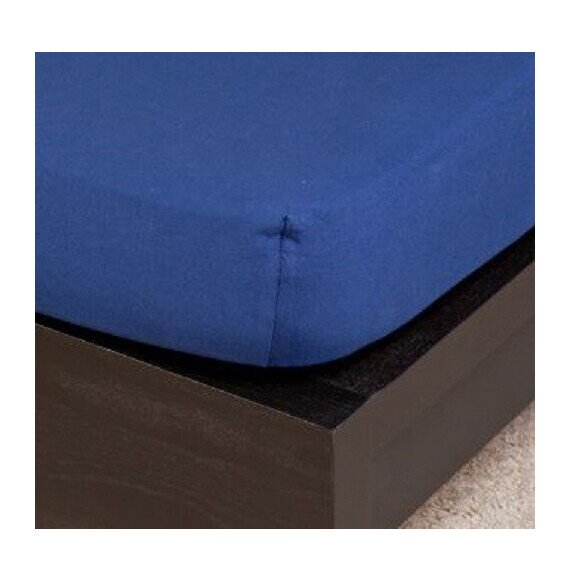 Pamut Jersey sötétkék gumis lepedő 80-100x200 cm