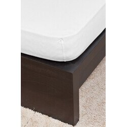 Pamut Jersey fehér gumis lepedő 160x200 cm