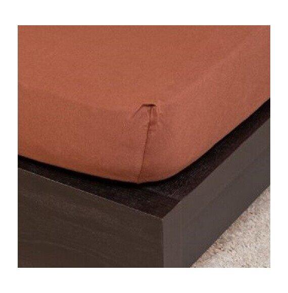 Pamut Jersey csokoládé gumis lepedő 160x200 cm