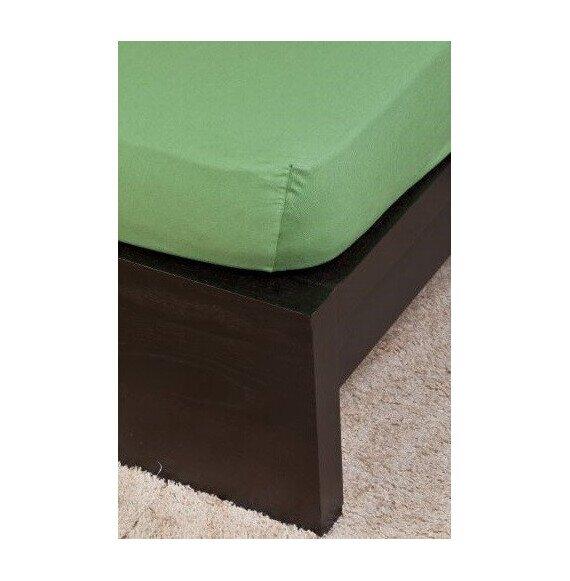Pamut Jersey olivazöld gumis lepedő 160x200 cm