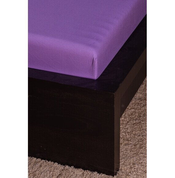 Pamut Jersey lila gumis lepedő 160x200 cm