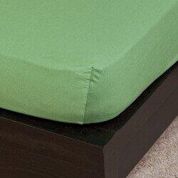 Pamut Jersey olivazöld gumis lepedő 200x200 cm