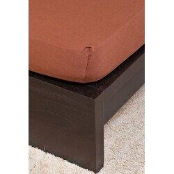 Pamut Jersey csokoládé gumis lepedő 200x200 cm
