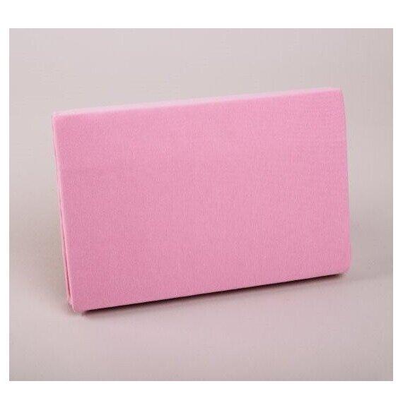 Pamut Jersey matt rózsaszínű gumis lepedő 200x200 cm