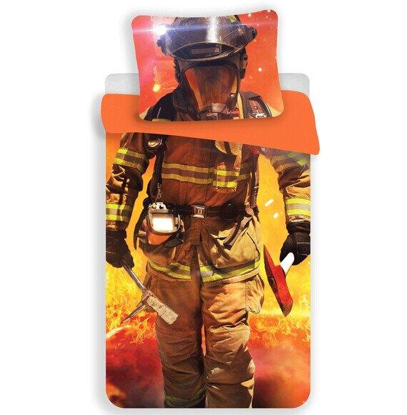 Tűzoltó bevetésen 2 részes pamut-vászon ágyneműhuzat