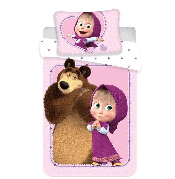 Disney Mása és a medve ovis 2 részes pamut-vászon ágynemű