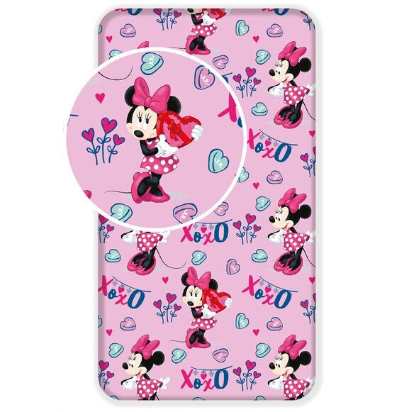 Disney Minnie egér pink gyerek pamut lepedő