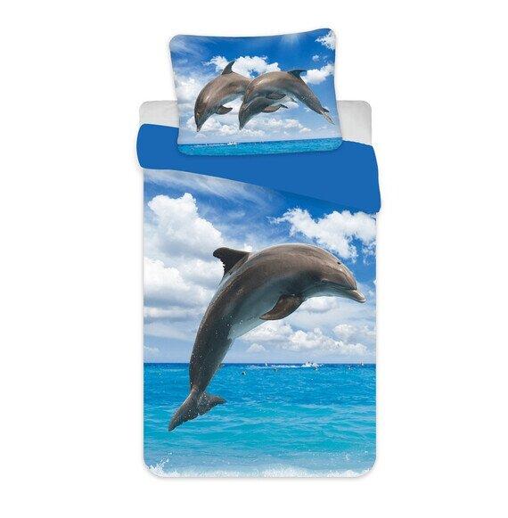 Delfin 2 részes pamut-vászon gyerek ágyneműhuzat