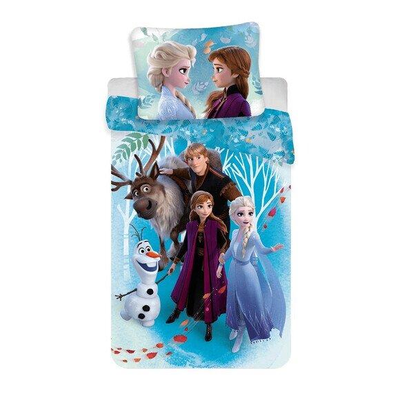 Jégvarázs family 2 részes Disney pamut-vászon ovis gyerekágynemű