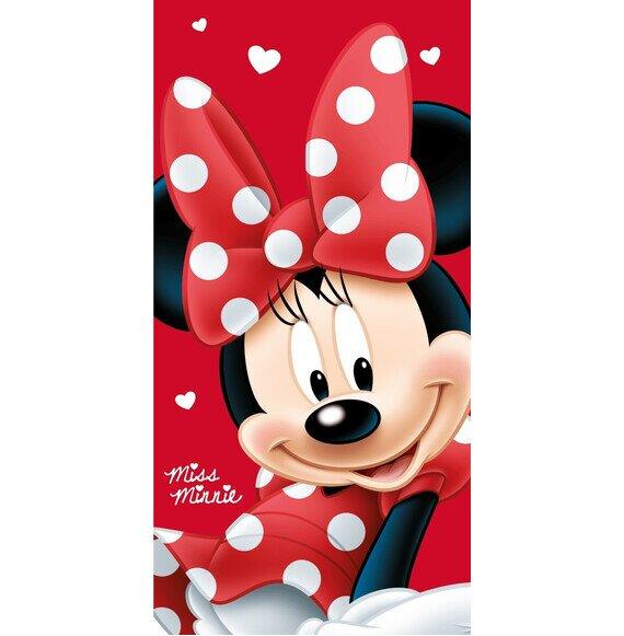 Minnie egér Big Red pamut törölköző 70x140 cm