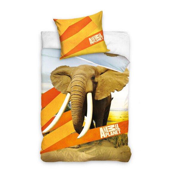 Elefántos 2 részes pamut-vászon ágyneműhuzat