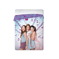 Disney Violetta pamut-vászon ágytakaró
