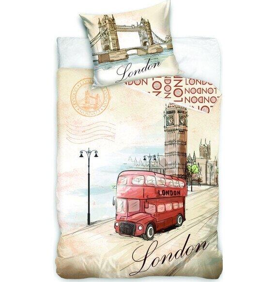 London Bus 2 részes pamut-vászon ágyneműhuzat